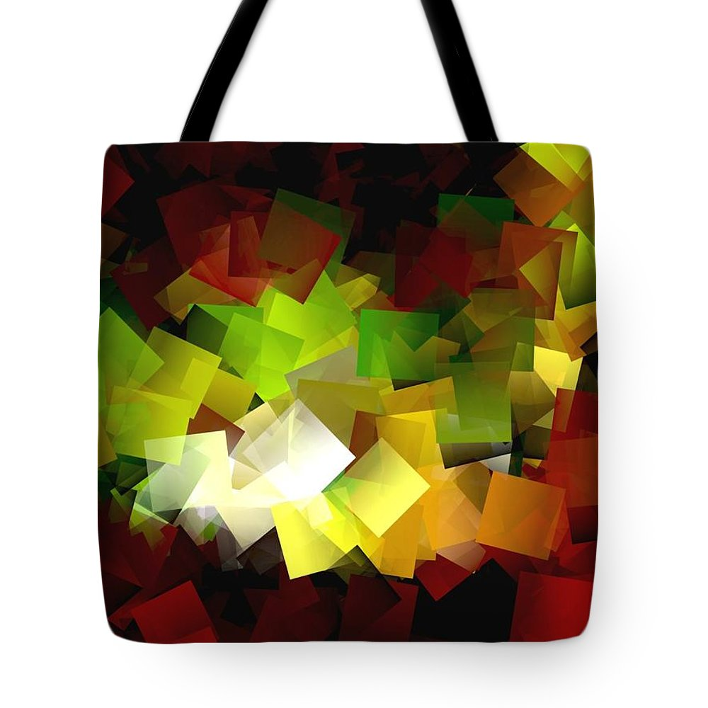 Kubic Tote Bag featuring the digital art Light On The End Of Darkness by Helmut Rottler
