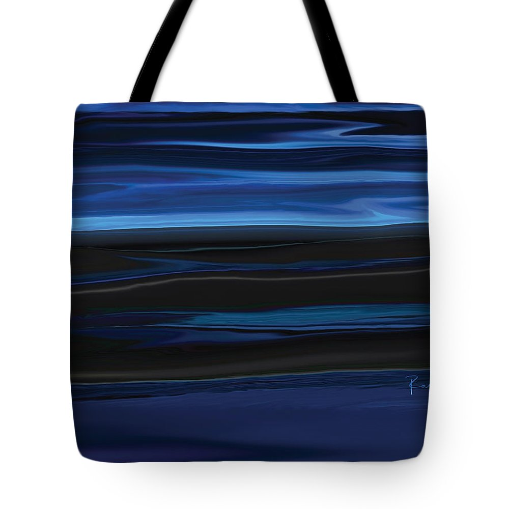 Black Tote Bag featuring the digital art Light On The Horizon by Rabi Khan