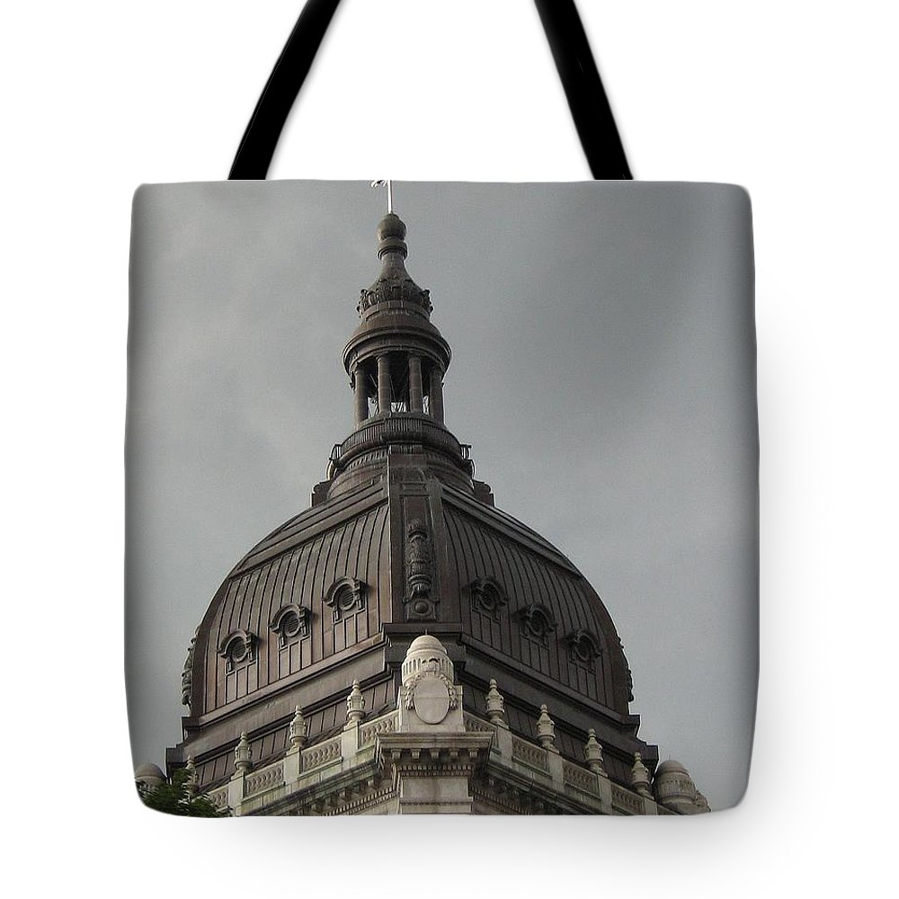 Architecture Tote Bag featuring the photograph Light On Top by D Nigon