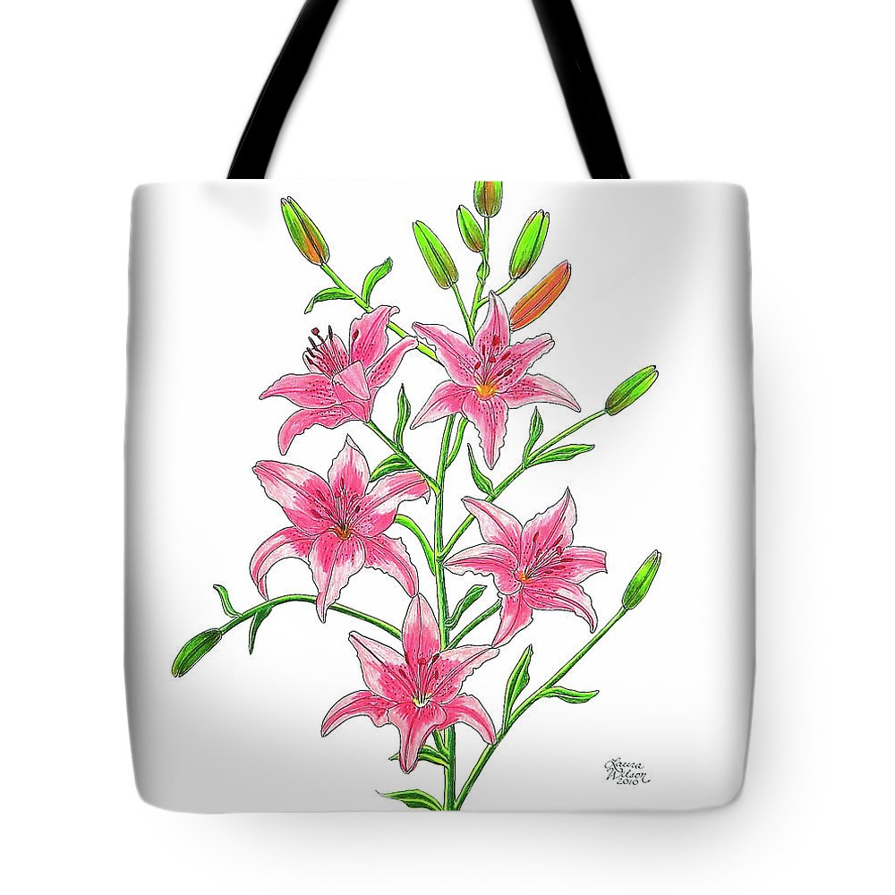 Light Pink Tiger Lily Tote Bag For Sale By Laura Wilson