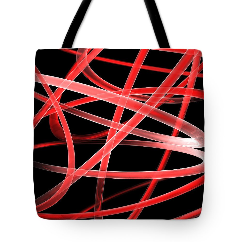 Scott Piers Tote Bag featuring the painting Light Red by Scott Piers