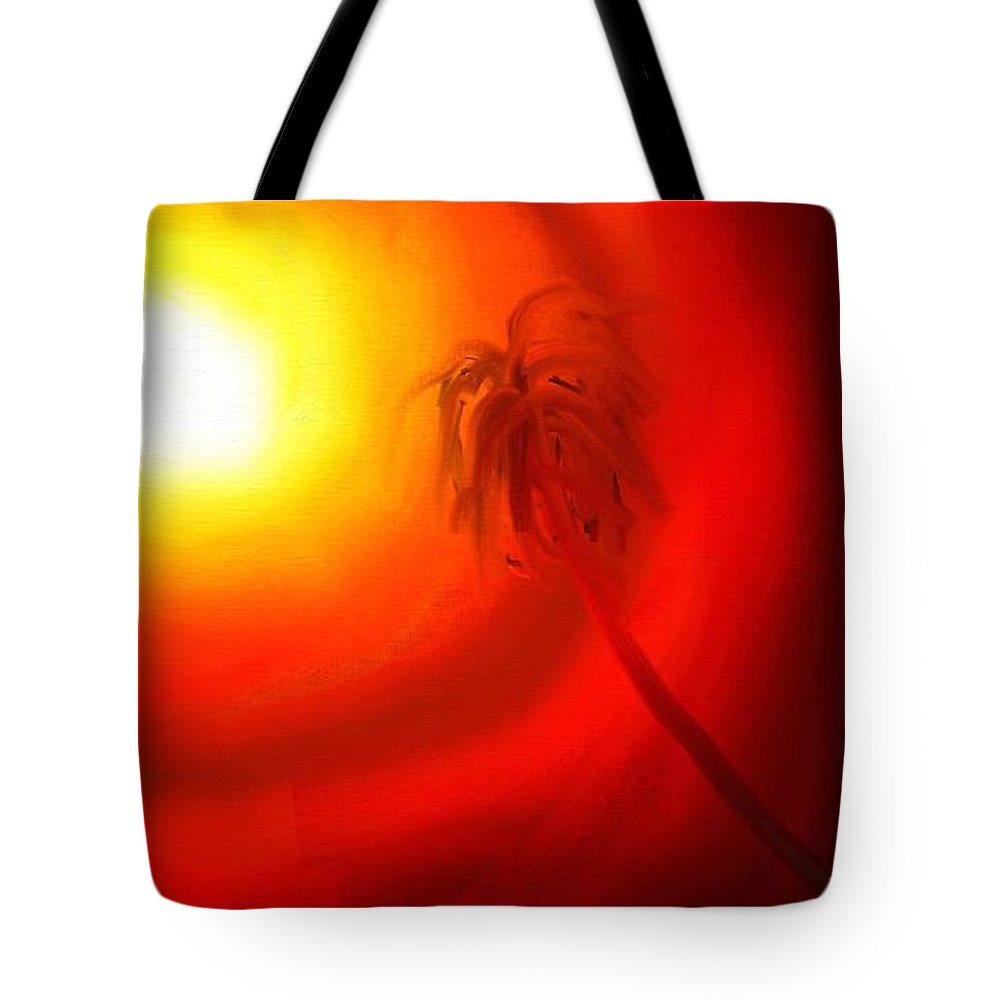 Digital Tote Bag featuring the painting Light by Rushan Ruzaick