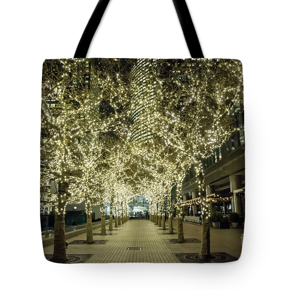 Lights Tote Bag featuring the photograph Light Scene by Reynaldo Brigantty