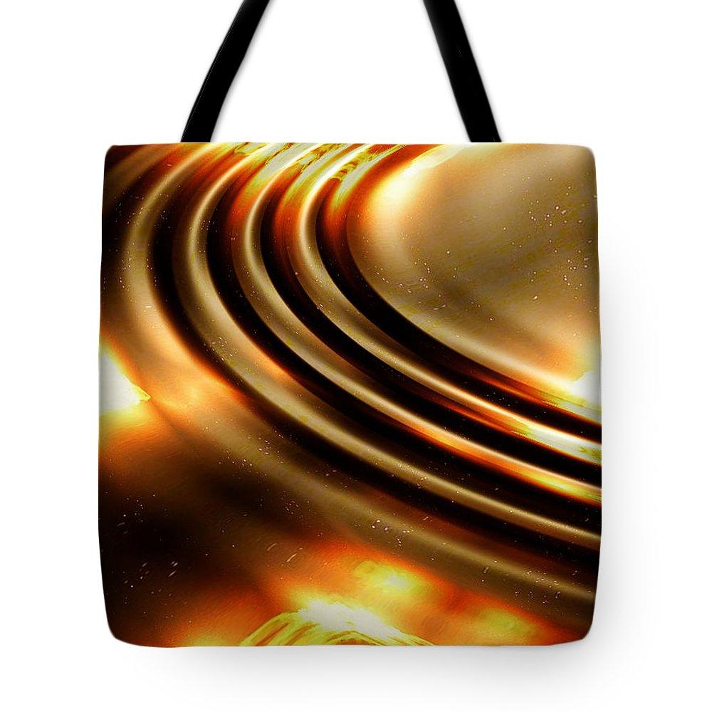Ripple Tote Bag featuring the digital art Light Show by Robert Orinski