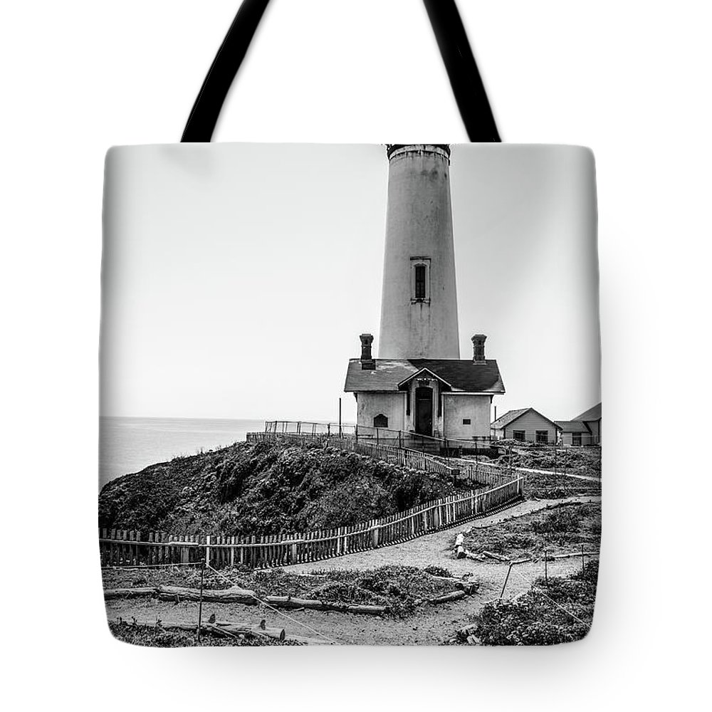 Light House Tote Bag featuring the photograph Light Tower Of The Pacific by Moshe Levis