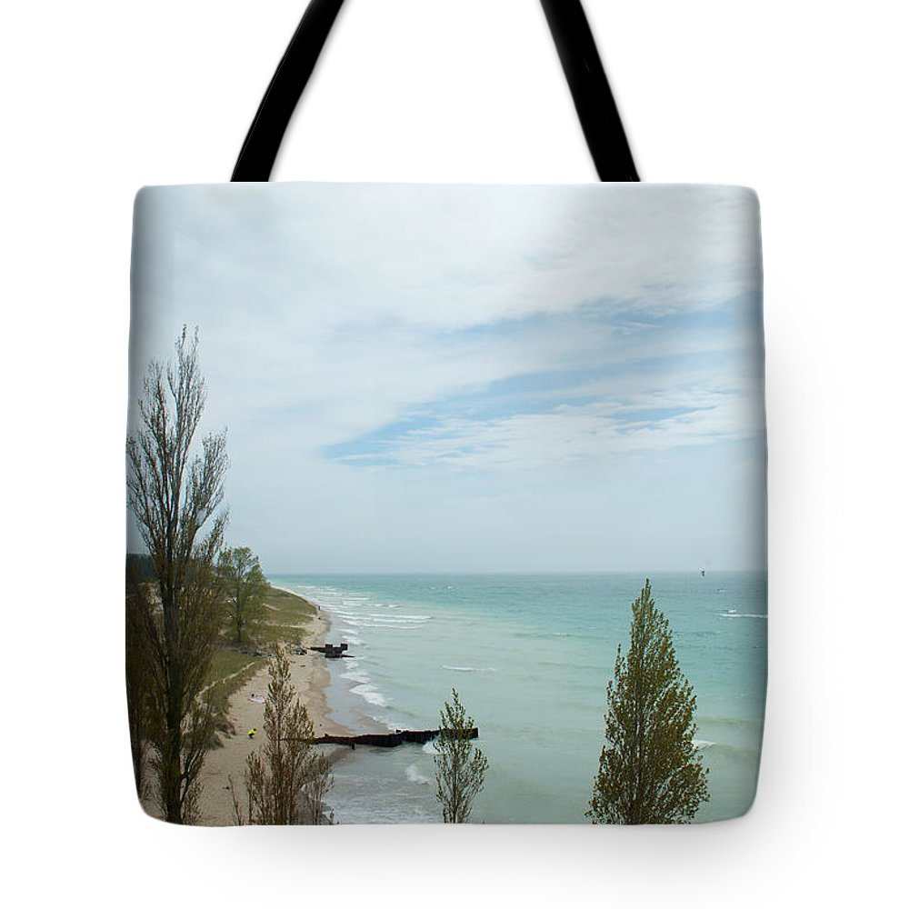 Michigan Tote Bag featuring the photograph Light View by Linda Kerkau