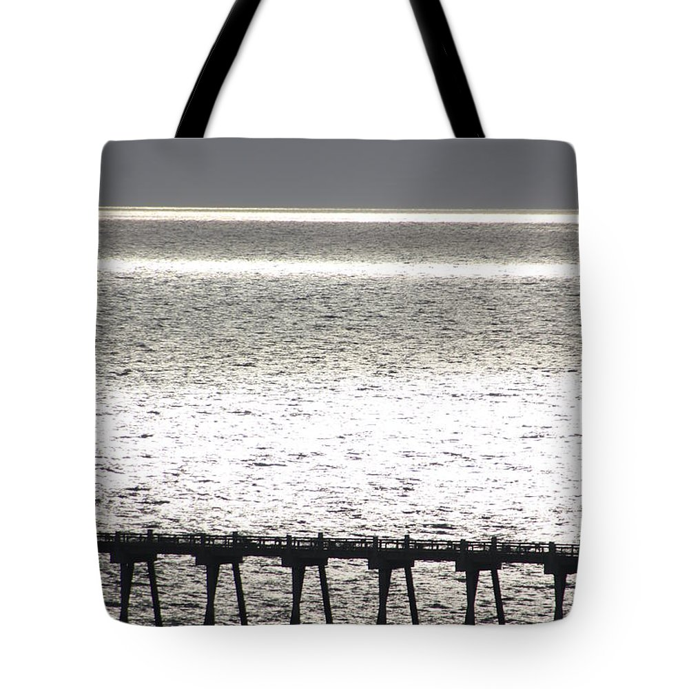 Pier Tote Bag featuring the photograph Light Wash II by Tamivision
