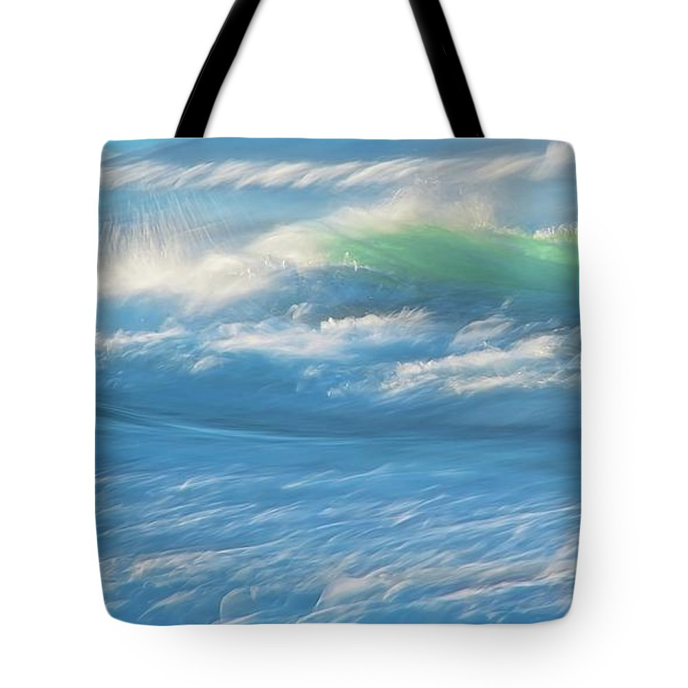 Nature Tote Bag featuring the photograph Light Wave at Asilomar, Pacific Grove, California by Zayne Diamond Photographic