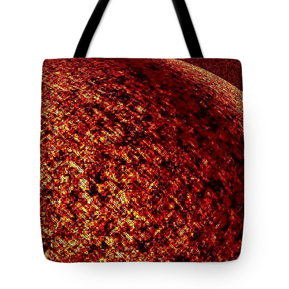 Abstract Tote Bag featuring the digital art Light Years Beyond by Will Borden