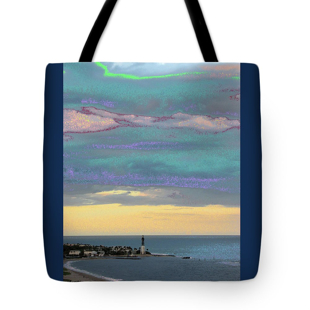 Hillsboro Tote Bag featuring the photograph Lighthouse 1001 by Corinne Carroll