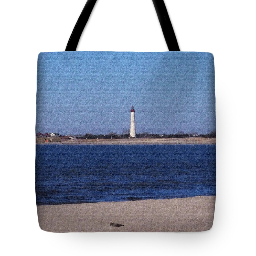 Lighthouse Tote Bag featuring the photograph Lighthouse At The Point by Pharris Art