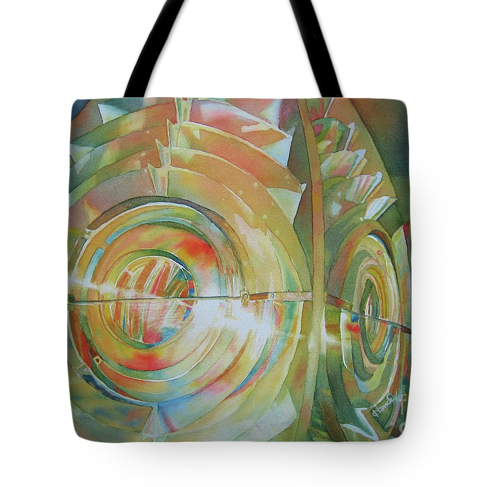 Nancy Charbeneau Tote Bag featuring the painting Lighting The Way by Nancy Charbeneau