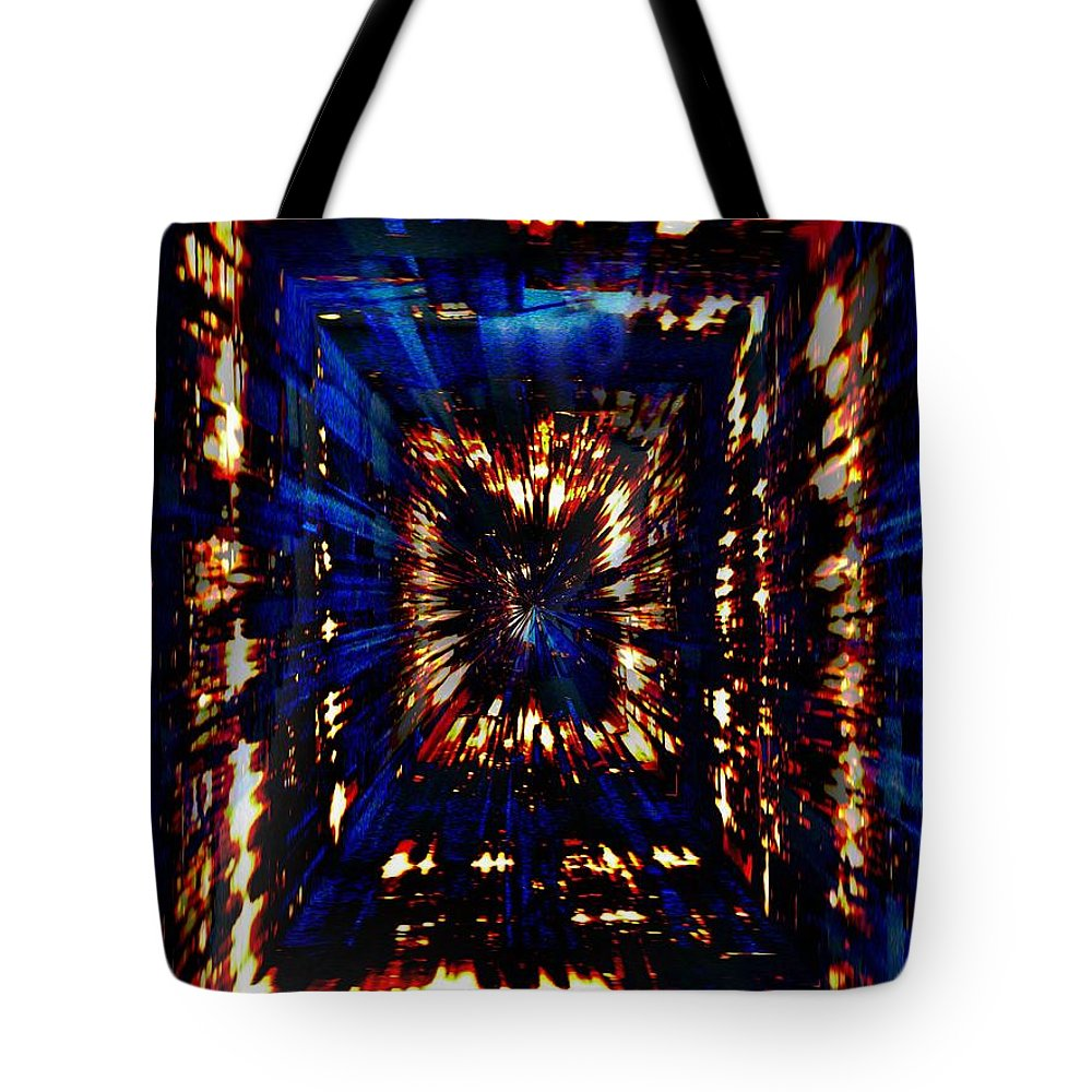 Abstract Tote Bag featuring the photograph Lighting The Way by Tim Allen
