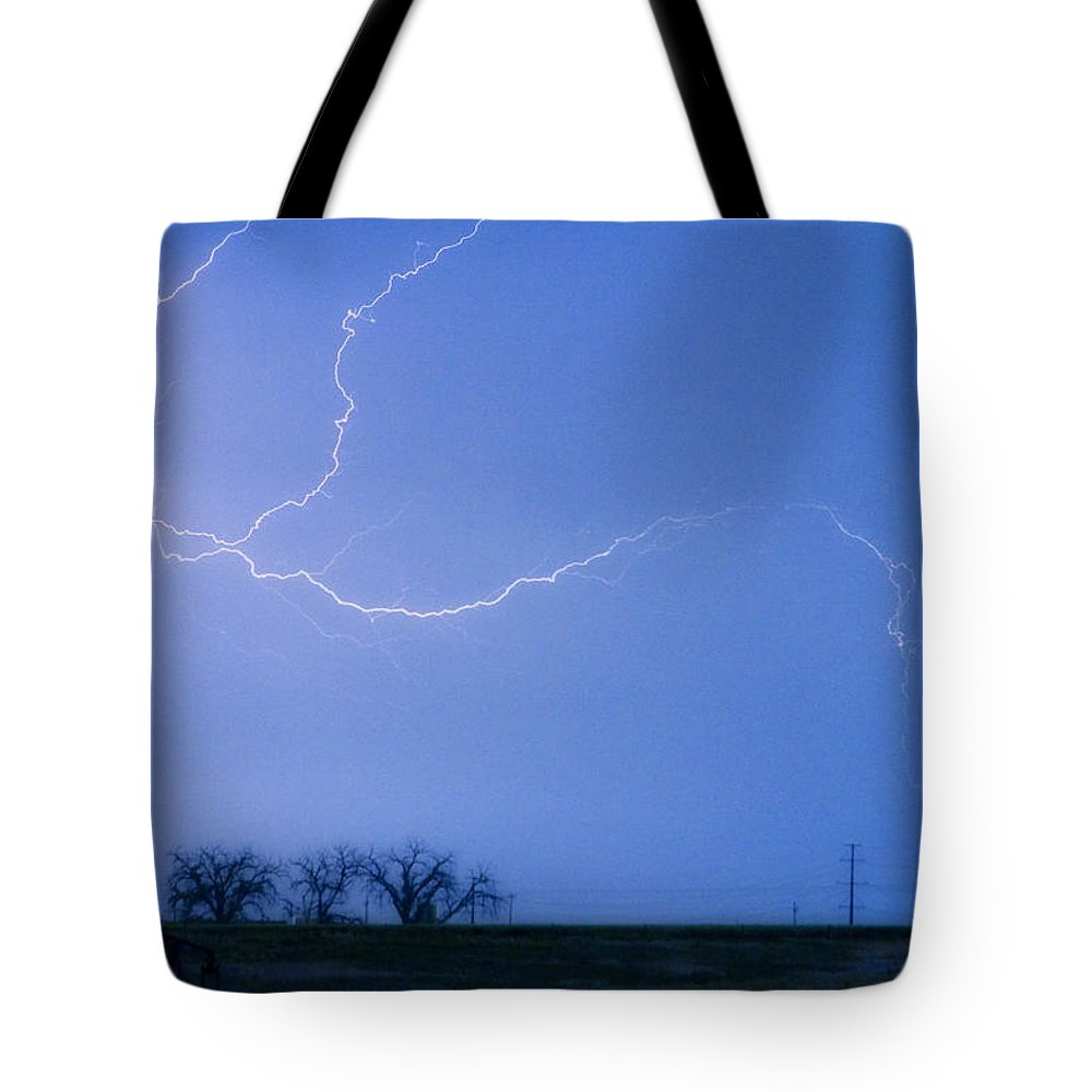 Colorado Tote Bag featuring the photograph Lightning Crawler by James BO Insogna