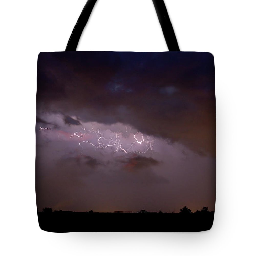 Lightning Tote Bag featuring the photograph Lightning In The Sky by James BO Insogna