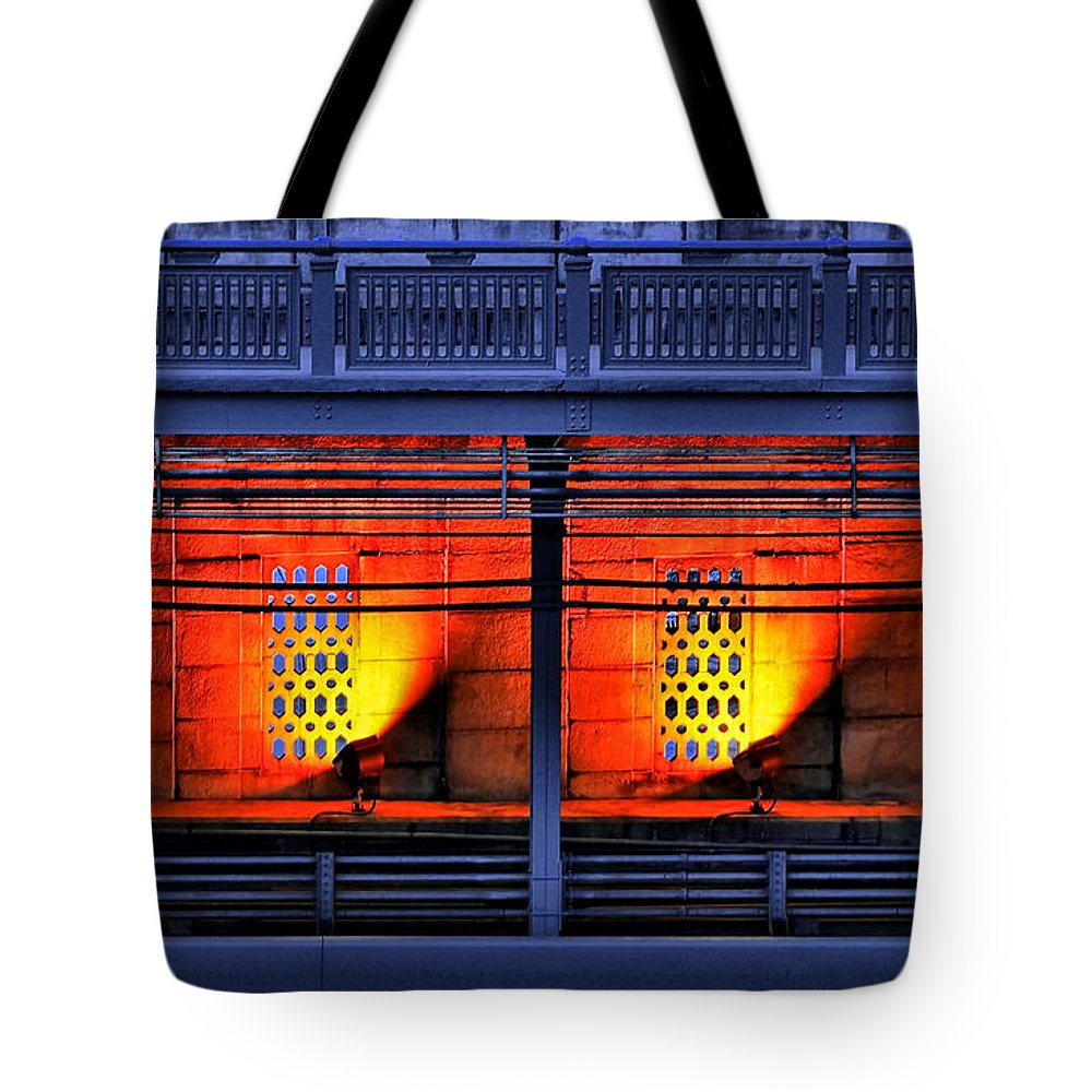 Abstract Tote Bag featuring the photograph Lights And Shadows by Evelina Kremsdorf