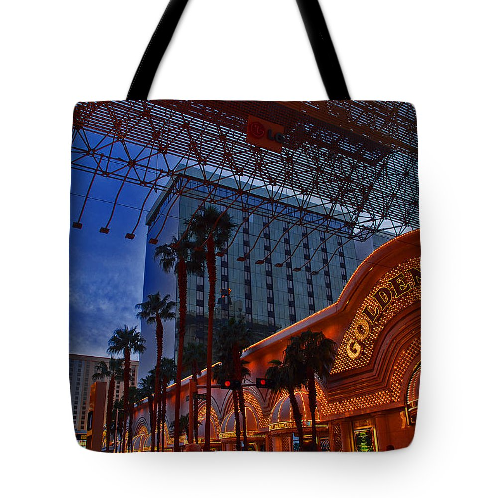 Photography Tote Bag featuring the photograph Lights In Down Town Las Vegas by Susanne Van Hulst