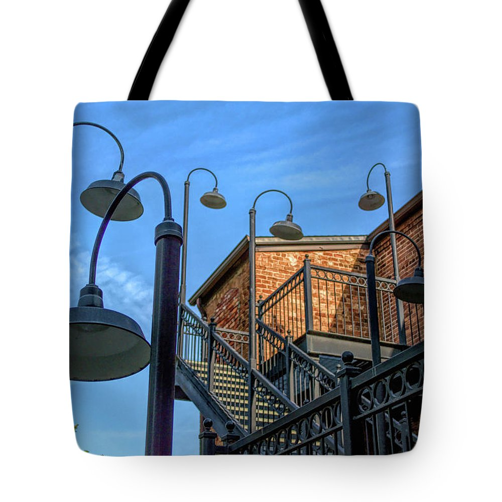 Photograph Tote Bag featuring the photograph Lights by Larry Bishop