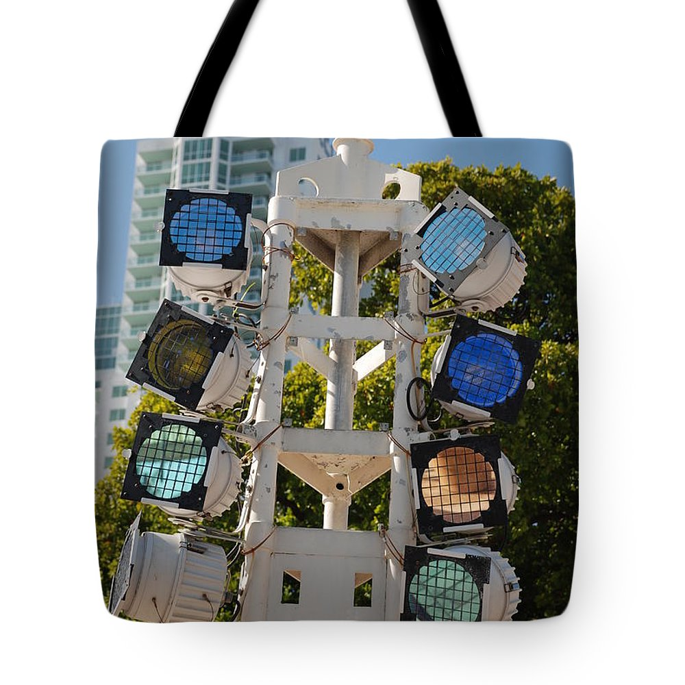 Lights Tote Bag featuring the photograph Lights by Rob Hans