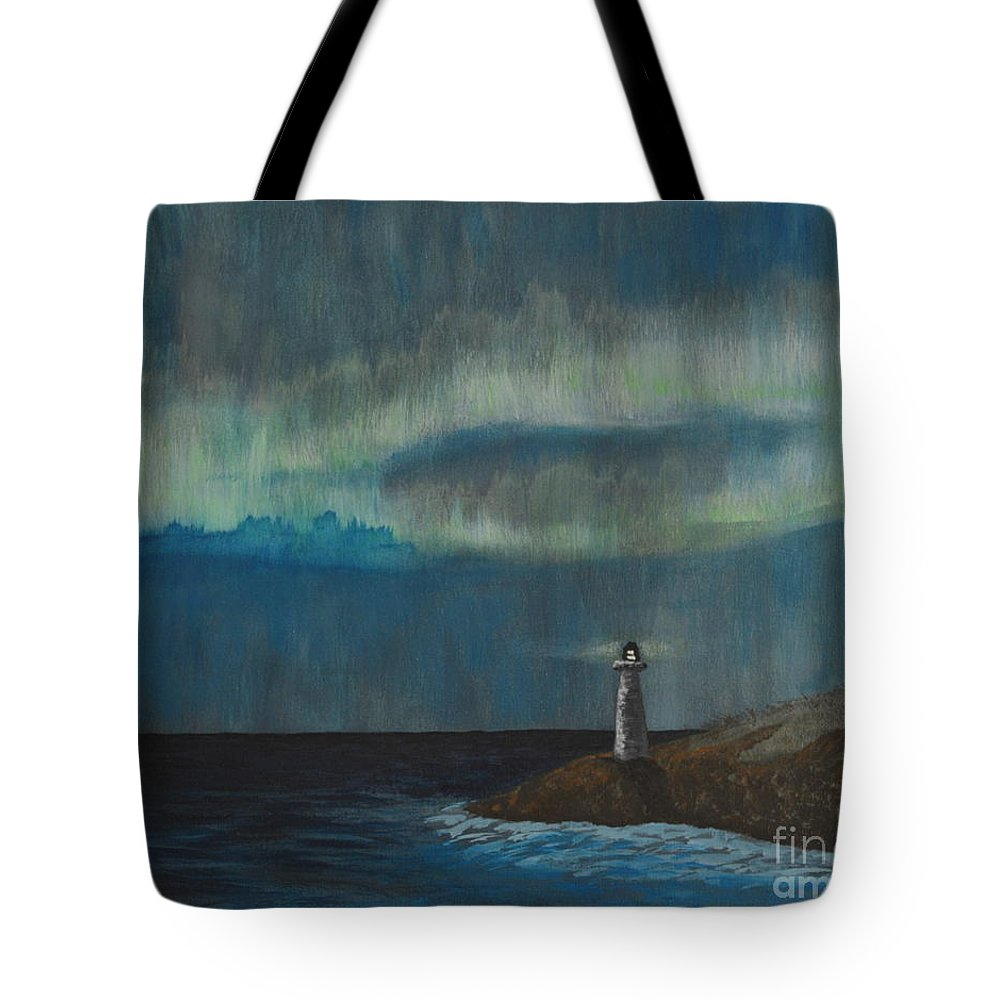 Acrylic Tote Bag featuring the painting Lights by Tania Eddingsaas