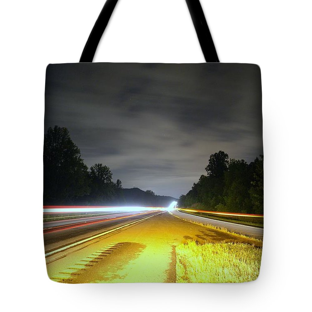 Landscape Tote Bag featuring the photograph Lightworks by Alex Grichenko