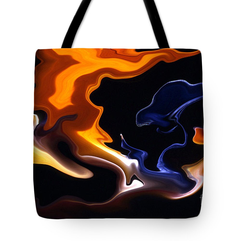 Abstract Tote Bag featuring the photograph Liquid Paradise by Norman Andrus