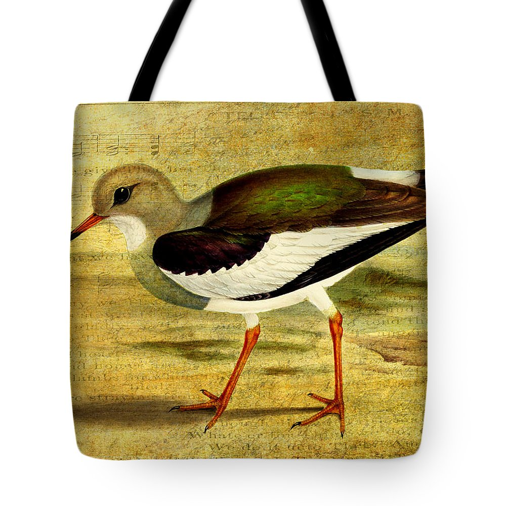 Lapwing Tote Bag featuring the digital art Like A Lapwing by Sarah Vernon
