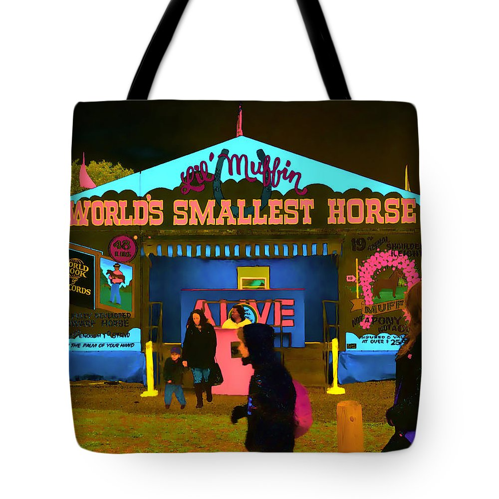 Horse Tote Bag featuring the photograph Lil Muffin by Jeff Breiman