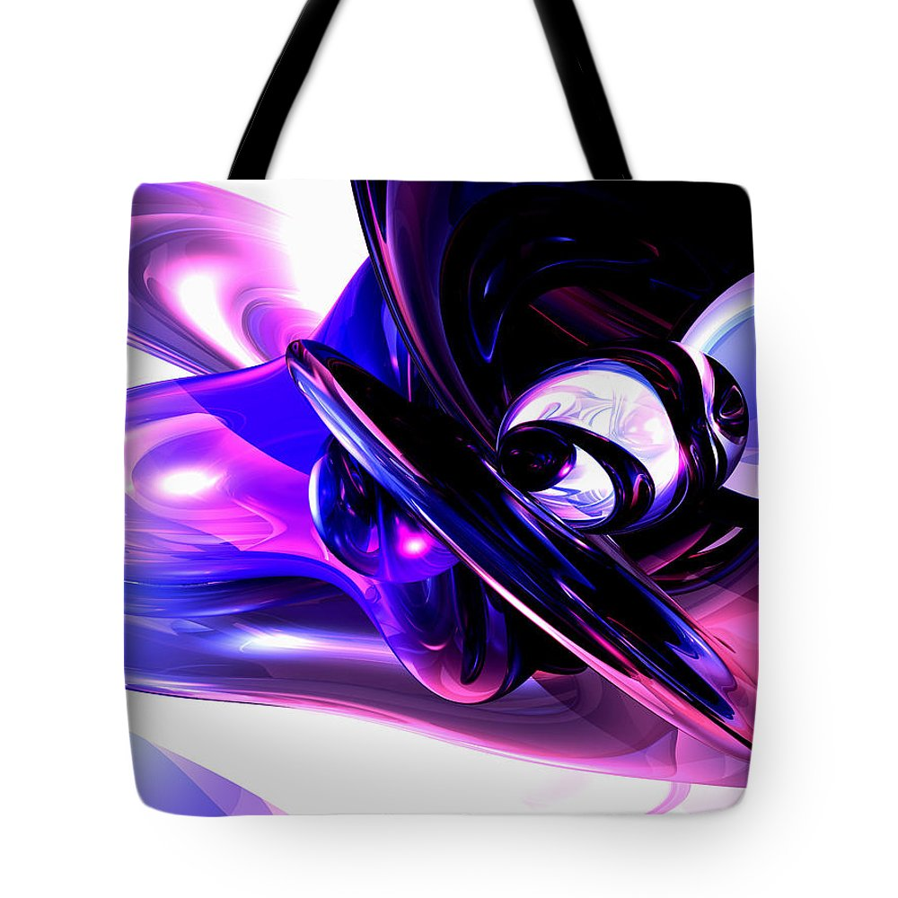 3d Tote Bag featuring the digital art Lilac Fantasy Abstract by Alexander Butler