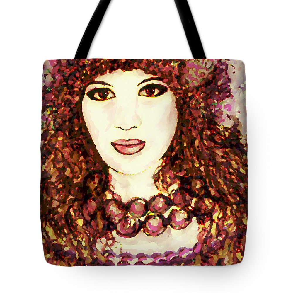 Woman Tote Bag featuring the painting Lilac by Natalie Holland