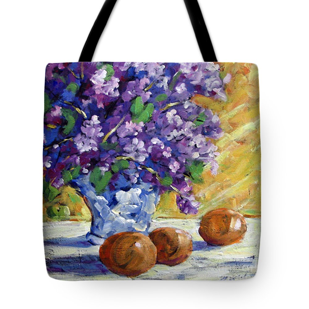 Art Tote Bag featuring the painting Lilac by Richard T Pranke