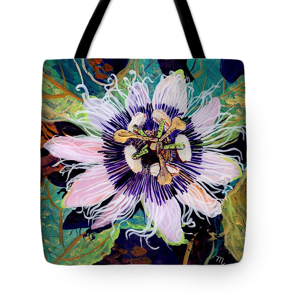 Passion Fruit Flower Tote Bags