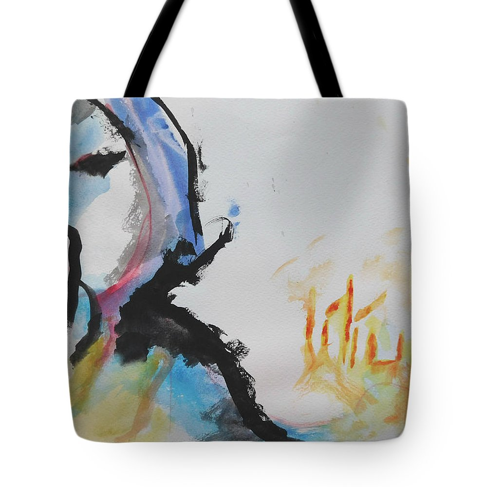 Latin Art Tote Bag featuring the painting Lilium by Evelyne Lalancette