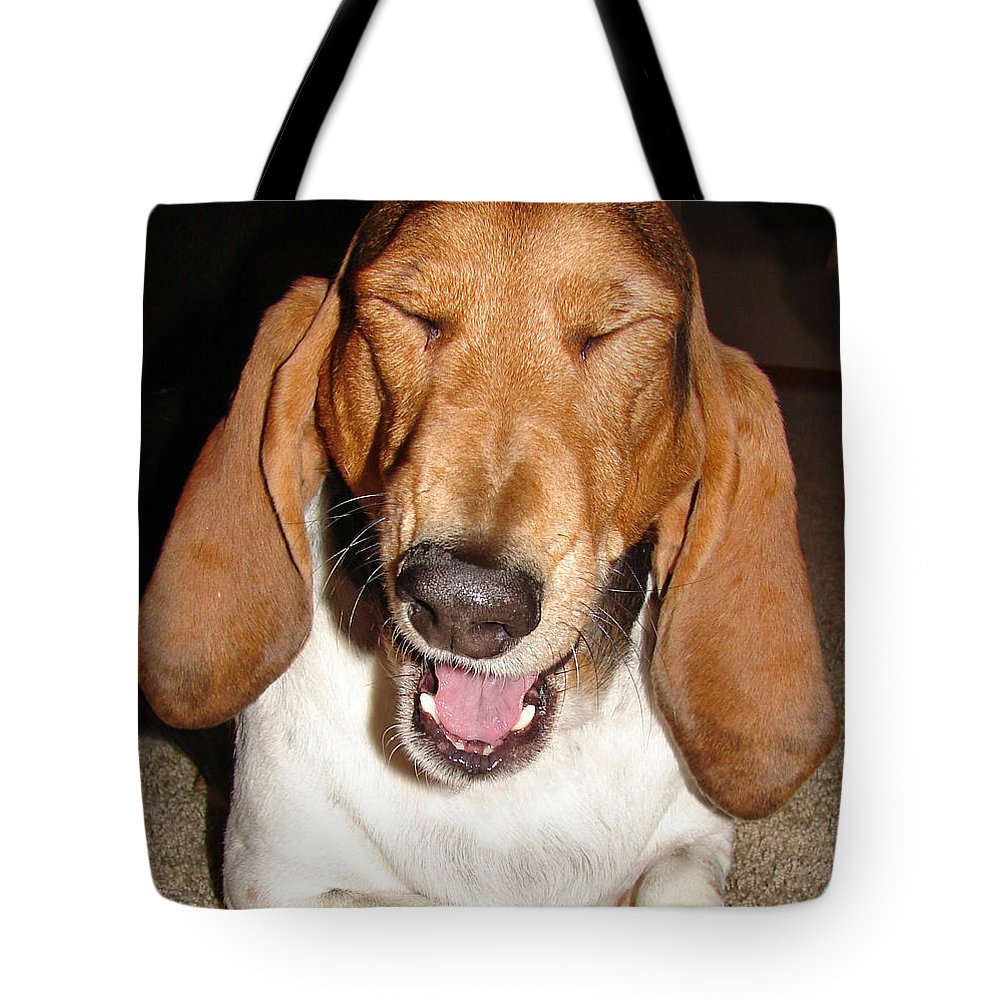Basset Hound Tote Bag featuring the photograph Lillard by Heather Coen