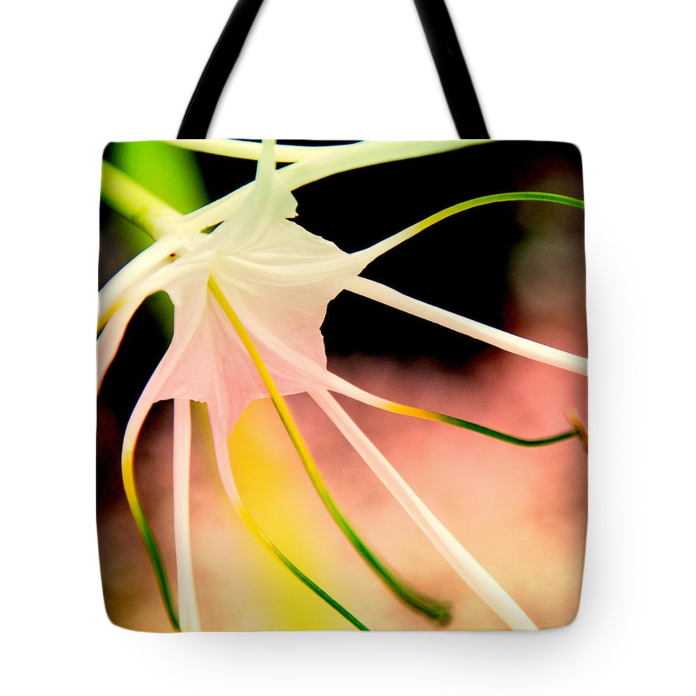 Flower Tote Bag featuring the photograph Lilly Flower Pastel by Susanne Van Hulst