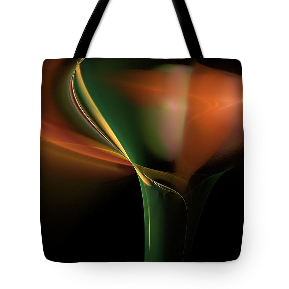 Digital Photography Tote Bag featuring the digital art Lilly Of Light by David Lane