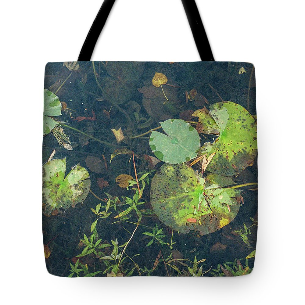 35mm Film Tote Bag featuring the photograph Lilly Pad Close Up by John McGraw