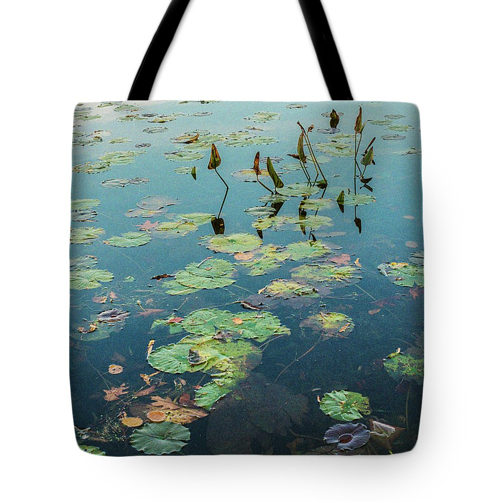 35mm Film Tote Bag featuring the photograph Lilly Pad In Pond by John McGraw
