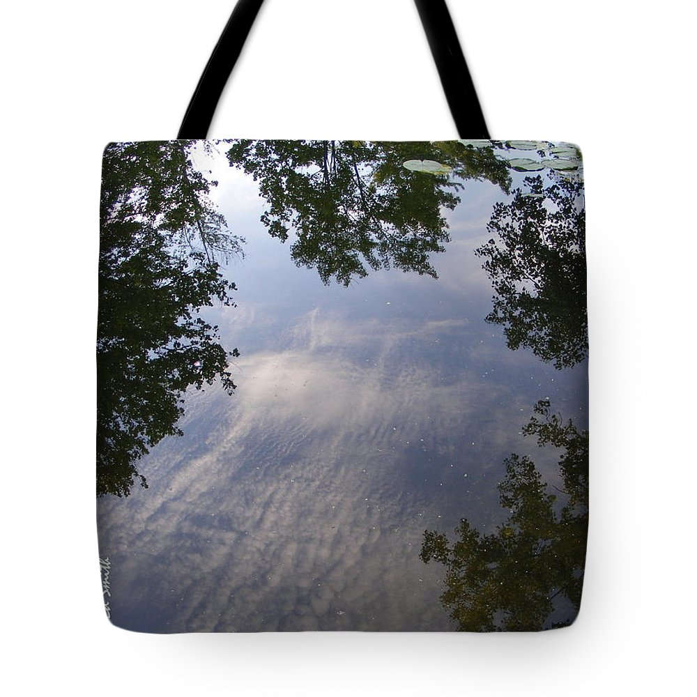 Lilly Pad Reflections Tote Bag featuring the photograph Lilly Pad Reflections by Edward Smith