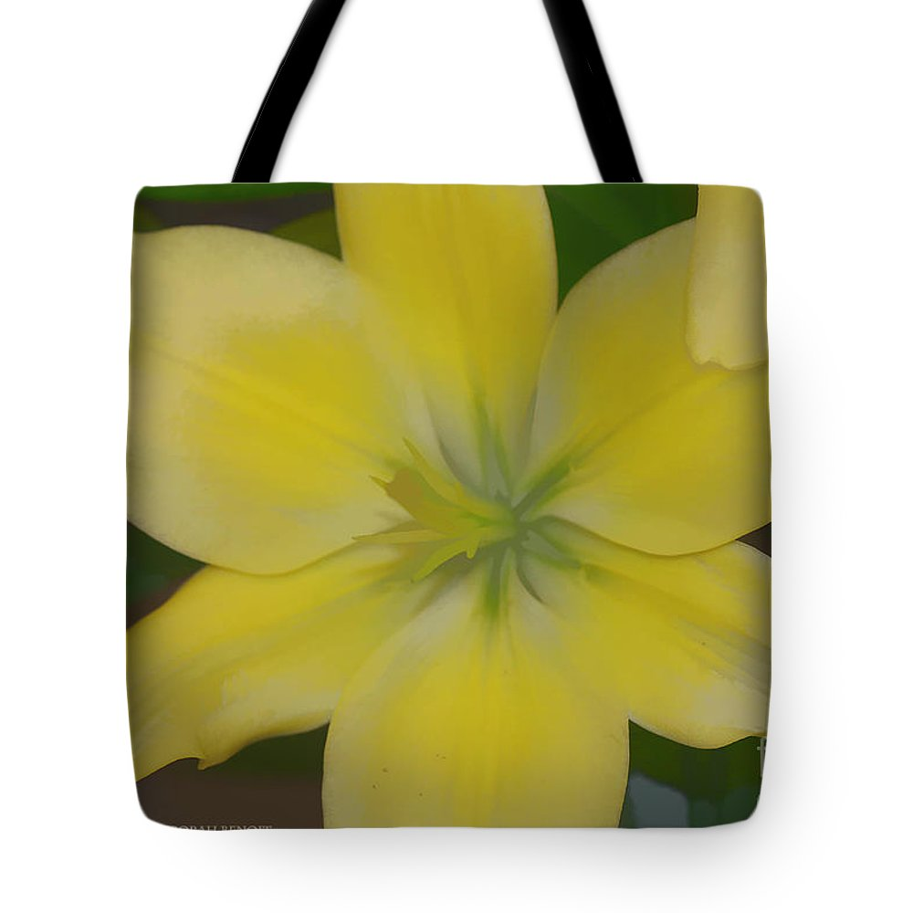 Lilly Tote Bag featuring the photograph Lilly With Artistic Beauty by Deborah Benoit