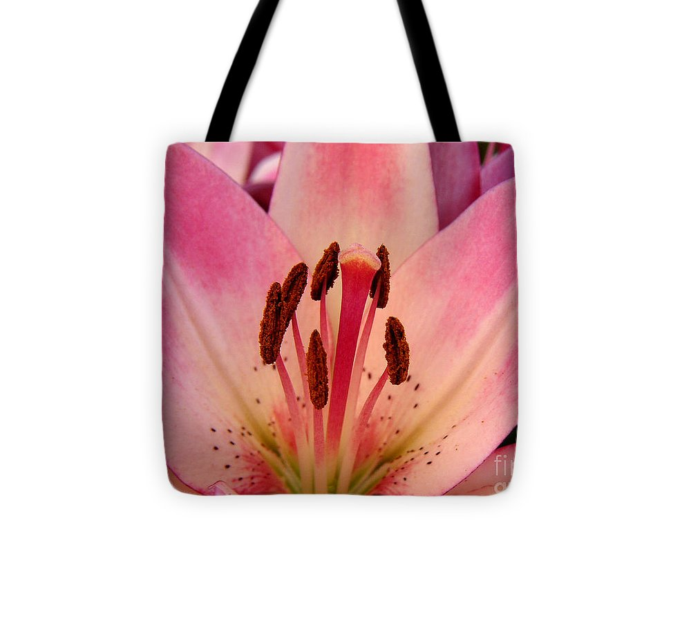 Nature Tote Bag featuring the photograph Lily - An Intimate View by Lucyna A M Green