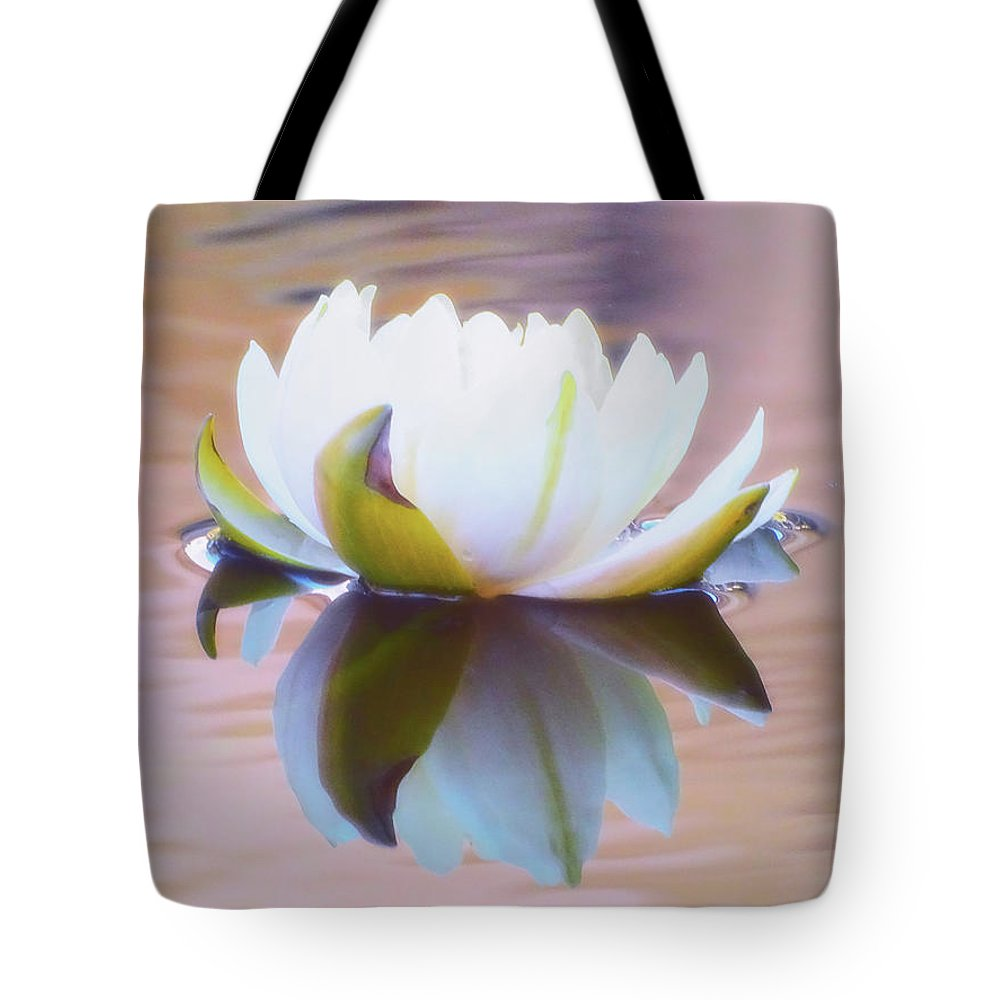 Lily Pads Tote Bag featuring the photograph Lily Dream by Deborah England