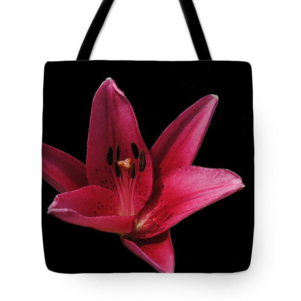 Lily Tote Bag featuring the photograph Lily by Eric Liller