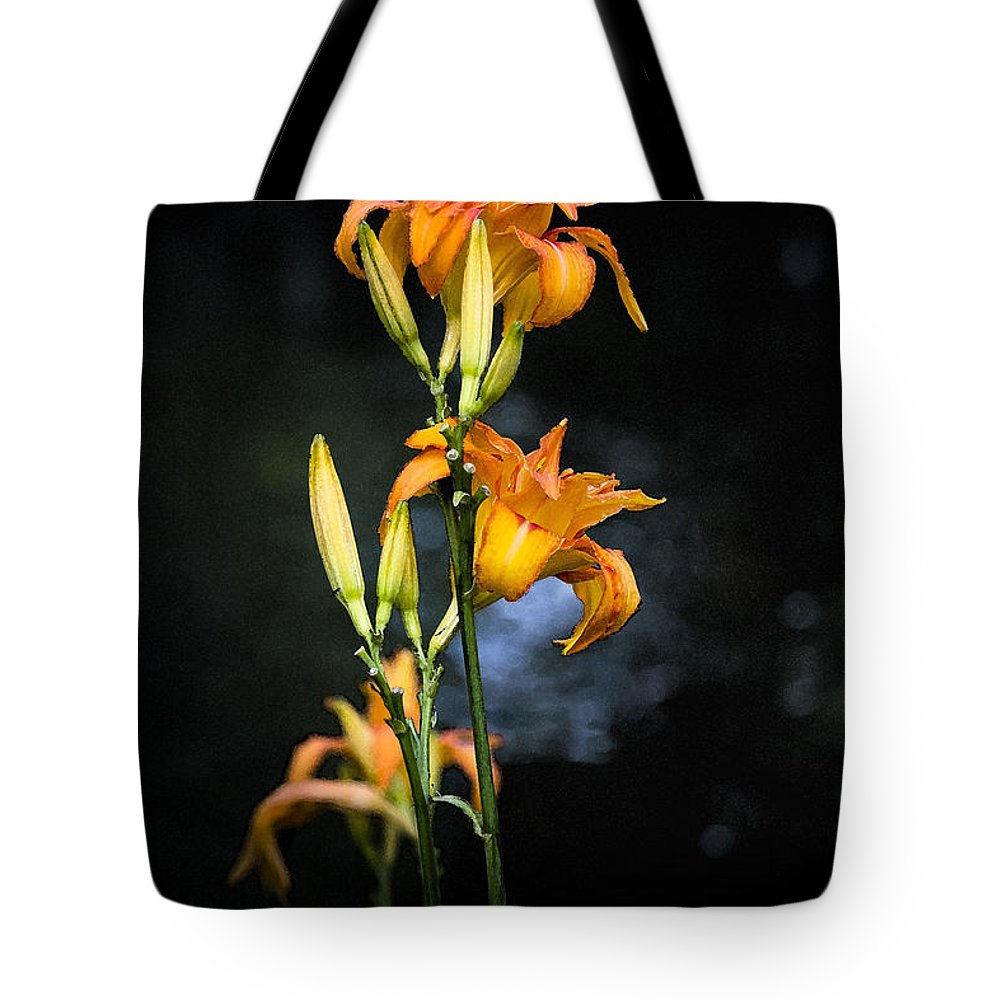 Lily Monet Garden Flora Tote Bag featuring the photograph Lily in Monets Garden by Sheila Smart Fine Art Photography