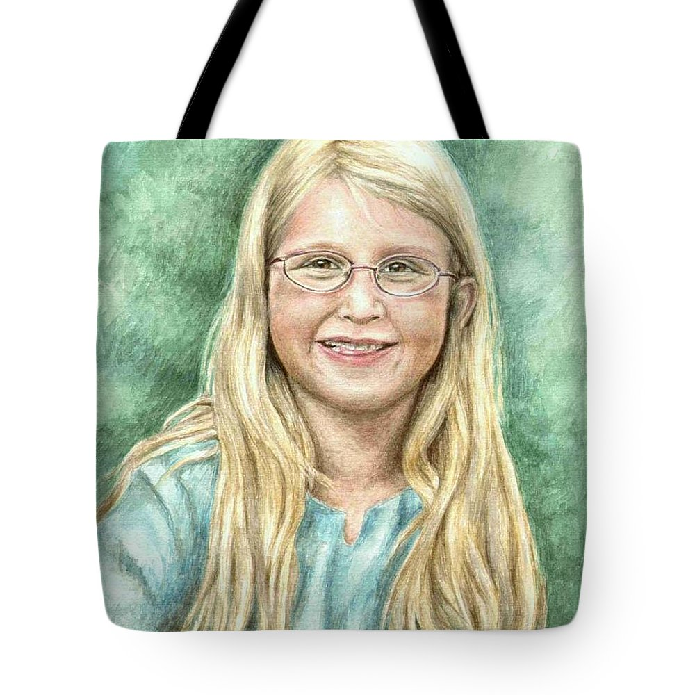 Girl Tote Bag featuring the painting Lily by Nicole Zeug