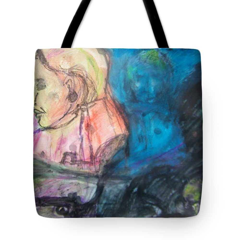 Abstract Tote Bag featuring the painting Lily Of The West by Judith Redman
