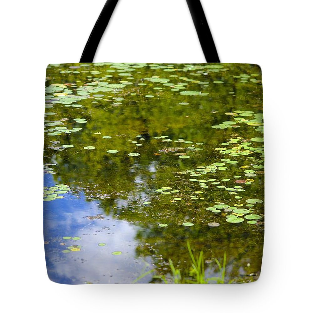 Lily Tote Bag featuring the photograph Lily Pad Pond by Robert Skuja