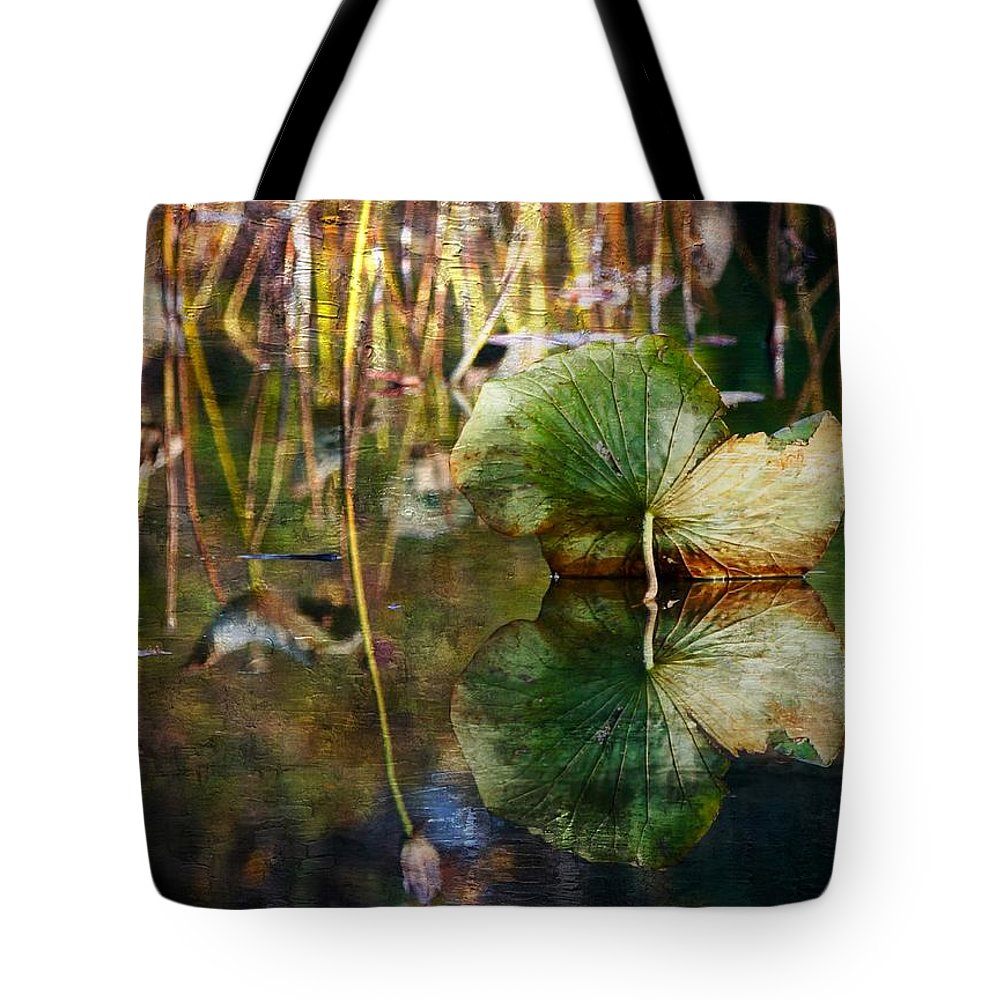 Field Tote Bag featuring the photograph Lily Pad Reflection Oil by Scott Fracasso