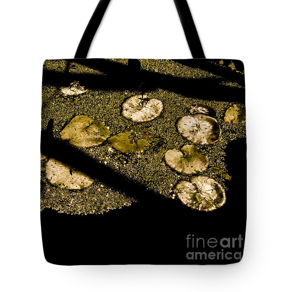 Beauty In Nature Tote Bag featuring the photograph Lily Pads And Shadows by Venetta Archer