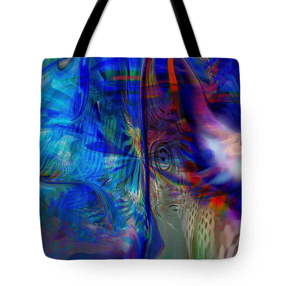 Abstract Tote Bag featuring the digital art Limelight by Linda Sannuti